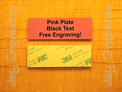 Custom Engraved 1x3 Pink - Black Plate | Name Tag Sign | Badge With Adhesive | Engraving Trophy Plaque Urn Keepsake Loving Personalized Scrapbook Organize Small Business Home Office Wall Door Plaque