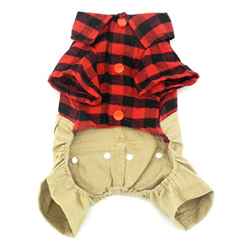 SMALLLEELUCKYSTORE-for-pets-Red-Plaid-Shirts-Sweater-with-Khaki-Overalls-Pants-Jumpsuit-Outfits-XL