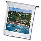 Danita Delimont – Harbors – Harbor, St Thomas, US Virgin Islands – CA37 BJN0012 – Brian Jannsen – 18 x 27 inch Garden Flag (fl_134946_2) For Sale