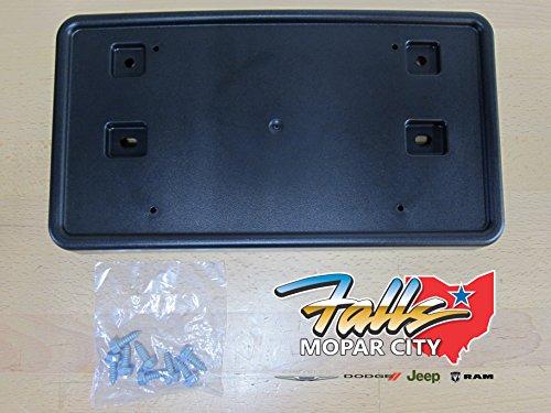 - Jeep Patriot Front License Plate Frame Holder Bracket Mopar OEM