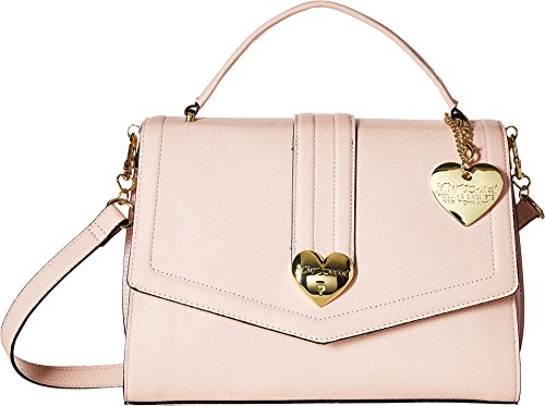 Betsey Johnson Women's Heart Lock Satchel Blush One Size ()