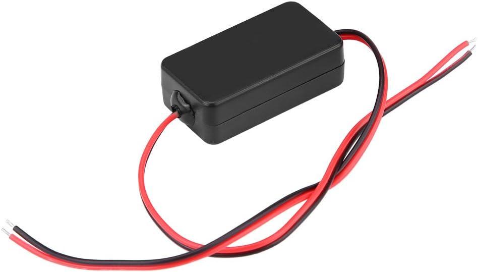 Qiilu 12V DC Filtro de alimentación de la cámara de visión trasera del coche