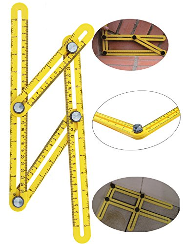 BaiEcom NEW IMPROVED Angleizer Measuring Template Tool With Metal Knob &FREE 2 EXTRA SCREWS For All Angles and
