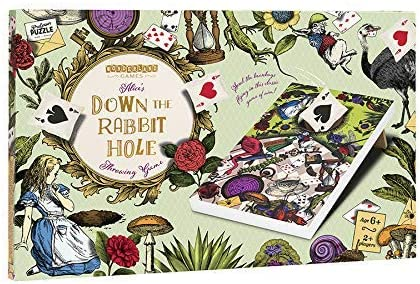 Down the Rabbit Hole Bean Bag Toss Alice in Wonderland Themed Corn Hole Game