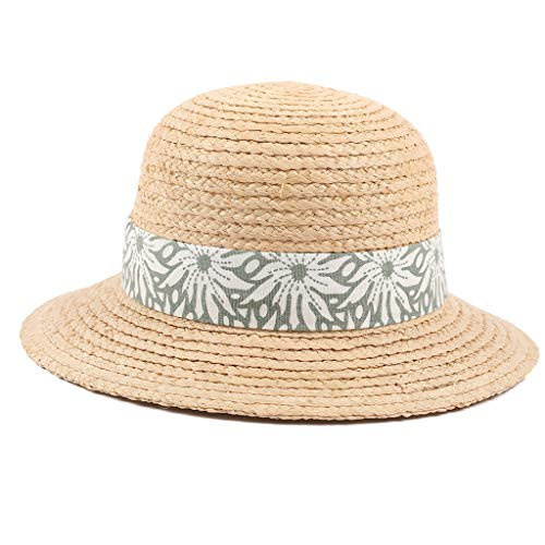 5-8 Years Old Children Straw Boater Hat Festival Summer Sun Beach Hat Green