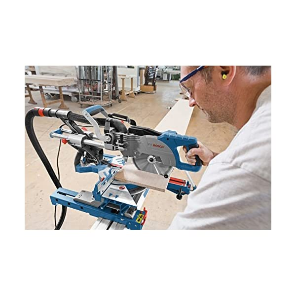 Bosch Professional GCM 800 SJ – Ingletadora telescópica, diametro disco 216 mm, en cartón, 1400 W + Bosch 2 605 411 230…