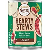 NUTRO Hearty Stews Adult Wet Dog Food, Meaty Lamb and Rice Stew Chunks in Gravy Canned Dog Food 12.5 Ounce Cans (Pack of 12); Rich in Nutrients and Full of Flavor; Supports Healthy Joints & Healthy Skin and Coat