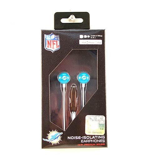 (NFL Miami Dolphins iHip Ear Buds with Microphone)