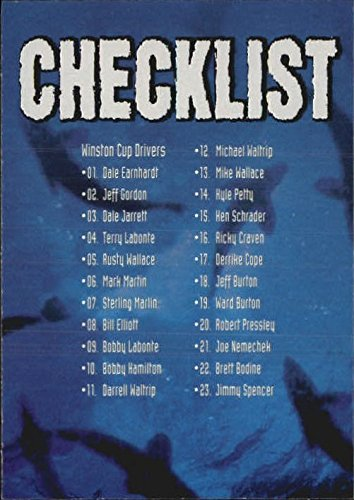 1997 Race Sharks #44 Checklist - - Race Checklist