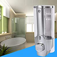Stylrtop 350ml Wall Mount Shower Bath Soap Shampoo Dispenser with a Lock for Bathroom Washroom