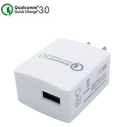 Amazon.com: Cargador USB, jiyue un puerto rápido 3.0 ...