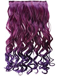 Amazon purple hair extensions extensions wigs agptek 26 enstyle supreme neon tangle curly hair extension pmusecretfo Images