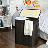 SONGMICS Divided Laundry Hamper with Removable