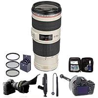 Canon EF 70-200mm f/4L IS USM Lens/Filter Bundle. USA. Value Kit w/Acc #1258B002