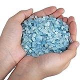 SUNYIK Aquamarine Tumbled Chips Stone Crushed