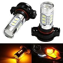 iJDMTOY 360-degree shine 15-SMD-5730 High Power 5202 H16 LED Bulbs For Fog Lights or Daytime Running Lights, Amber Yellow