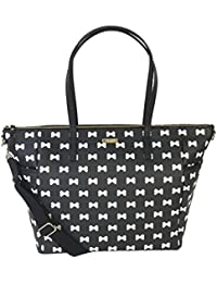 Kate Spade Grant Street Adaira Baby Bag, Black / Cream Bows