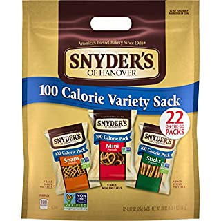 Snyder's of Hanover Pretzels, Variety Pack of 100 Calorie Individual Packs (Pack of 4 Boxes, 22 Count Each)