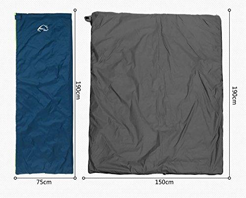 Camping Schlafsäcke, Die neuen Frühling und Sommer Sommer Sommer im Freien Tasche Erwachsenen Schlaf warmer Schlafsack Mittagspause Umschlag Einzelbaumwollschlafsack zu halten (gespleißt werden kann) ,Schlafsack ee7a39