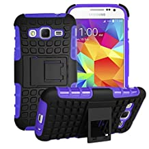 Samsung Galaxy Core Prime Case Cover -Lantier Tough Rugged Dual Layer Protective Case with Kickstand for Samsung Galaxy Core Prime G360 / Prevail LTE (2015 Release) Purple