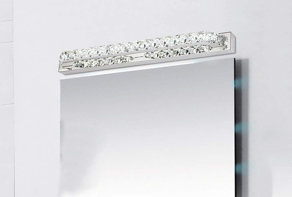Fashion Crystal LED Edelstahl Spiegel Scheinwerfer Schlafzimmer Badezimmer Badezimmer Spiegel Beleuchtung (Farbe  Weiß-14 w 56 cm)