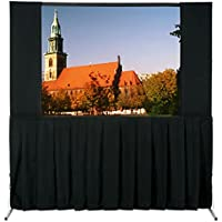 Da-Lite School Office Projector Accessories Ultra Velour 16:10 Fast-Fold Drapery Masking Panels 86 x 144 Area 76 x 134