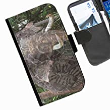 Hairyworm - elephant image with camouflage print Motorola Moto X Play leather side flip wallet cell phone case, cover with card slots, money slot and magnetic clasp to close.