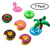 7pcs Inflatable Drink Holder Float Mini Cup Holders Floats Coasters Magical Style Summer Lounger Beach Toys Swimming Pool Toy for Bath