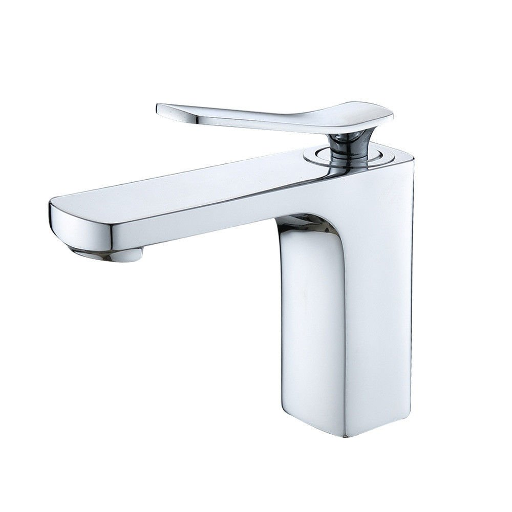 Commercial Single Lever Pull Down Kitchen Sink Faucet Brass Constructed Polished Copper Chrome Faucet Basin Hot and Cold Faucet Washbasin Washbasin Bathroom Cabinet Kitchen Faucet
