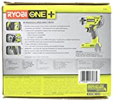 Ryobi P238 18V One+ Brushless 1/4 2,000 Inch Pound, 3,100 RPM Cordless Impact Driver w/ Gripzone Overmold, Belt Clip, and Tri-Beam LED