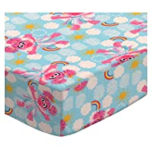 SheetWorld Fitted Oval (Stokke Mini) - Sesame Street Abby - Made In USA - 58.4 cm x 73.7 cm ( 23 inches x 29 inches)