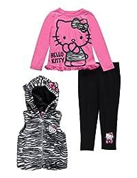 "Hello Kitty Little Girls' Toddler ""Zebra Kitty"" 3-Piece Outfit"