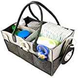 Baby Diaper Changing Organizer Caddy - Convenient & Durable Diaper Storage Nursery Basket for Changing Table - Store, Organize & Carry Infant Diapers, Clothes, Toys Snacks - Perfect Baby Shower Gift