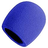 On Stage Foam Ball-Type Mic Windscreen, Blue
