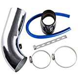 """3"""" 64mm-75mm Universal Car Turbo Cold Air Intake Systems Inlet Induction Hose Pipe Filter Tube Kit"""