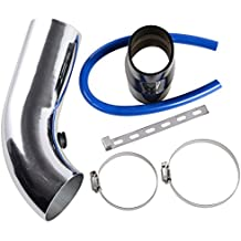 "3"" 64mm-75mm Universal Car Turbo Cold Air Intake Systems Inlet Induction Hose Pipe Filter Tube Kit"