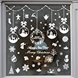 TMCCE 235 Piece Christmas Window Snowflake Cling