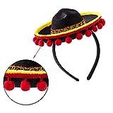 3Pcs Cinco De Mayo Sombrero Headband, Fiesta