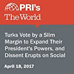 Turks Vote by a Slim Margin to Expand Their President's Powers, and Dissent Erupts on Social Media | Joyce Hackel