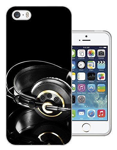 002884 - Headphones Dj Music Lovers Design iphone 4 4S Fashion Trend CASE Gel Rubber Silicone All Edges Protection Case Cover