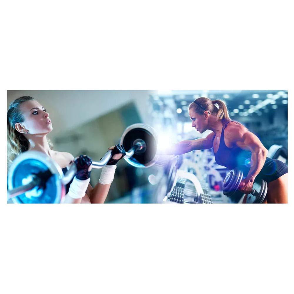 350cm×256cm Tendance fitness beauté haltères photo exercice fitness club image mur yoga café fresque fond d'écran250cm×170cm