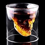 Beer Cup, Justdolife Wine Cup Cool Clear Skull Head Shot Glass Party Wine Cup Kitchen Glass