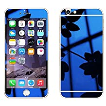 Front+Back Mirror Effect [Full Coverage] Tempered Glass Screen Protector for Apple iPhone 6 Plus / 6S Plus 5.5 inch - fengus Premium 9H Anti Scratch Full Edge to Edge Protection Protector Film - Blue