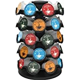 Everie Coffee Pod Carousel Holder Compatible with 35 or 36 or 40 Keurig K Cup Coffee Pods, Rotary Base, Display & Pick