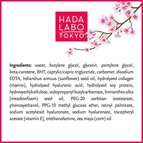 Hada Labo Tokyo Anti-Aging Hydrator 1.7 Fl. Oz - with Super Hyaluronic Acid, Collagen and Retinol Complex - lightweight anti aging serum helps increase firmness and elasticity, fragrance free