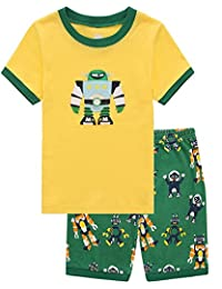 Pajamas for Boys Little Big Kid Short Sets 100% Cotton Clothes Sleepwears