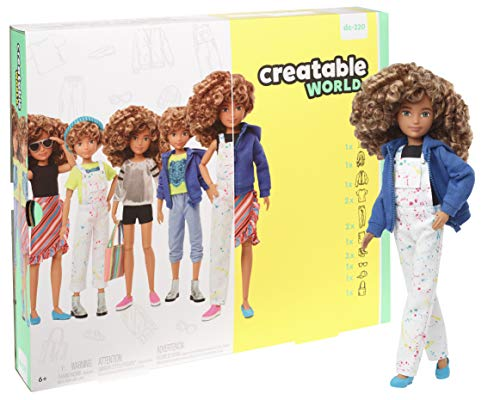 Creatable World Deluxe Character Kit Customizable Doll with Blonde Curly Hair, 6 Pieces Doll Clothes, 3 Pairs Shoes and 2 Accessories, Creative Play for All Kids 6 Years Old and Up