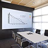 ZHIDIAN Magnetic White Board Stickers for Wall/Large Dry Erase Board for Office/School/Includes Whiteboard Tape and Non-Mark Hooks (36 x 24 inches)