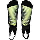 Rawxy Adult Exceptional Flexible Soccer Shin Guards with Ankle Sleeves - Great for Men Women Boys Girls (Neo Lemon, Small and Middle)