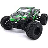 KELIWOW 1:18 Off Road RC Truck 4WD Big Foot PickUp 2.4GHz Remote Control Car Splashproof Electric Dune Buggy with Independent Suspensions RTR (Green)